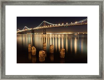 Bay Bridge Reflections Framed Print by Connie Spinardi