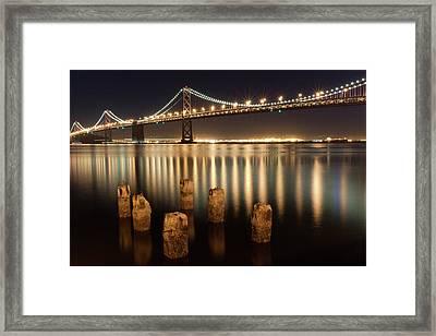 Bay Bridge Reflections Framed Print