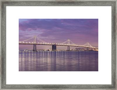 Bay Bridge Sunrise Framed Print by John McGraw