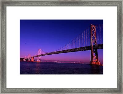 Bay Bridge Sunset Framed Print