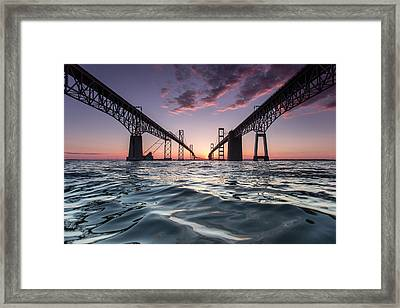 Bay Bridge Twilight Framed Print