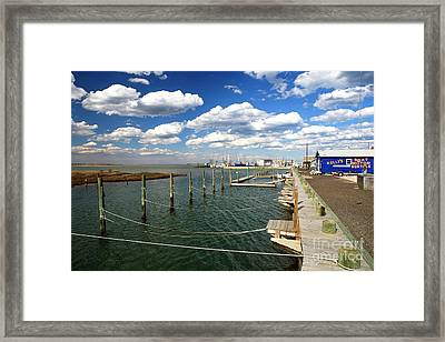 Bay Clouds Framed Print by John Rizzuto