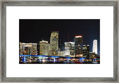 Bay Front Miami Skyline Framed Print