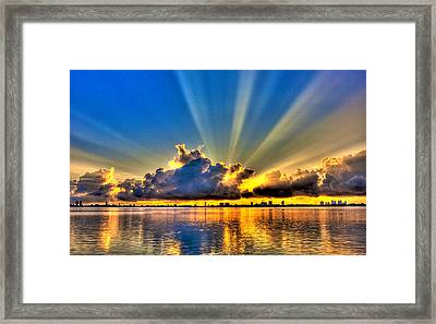 Bay Harbor Sunrise Framed Print