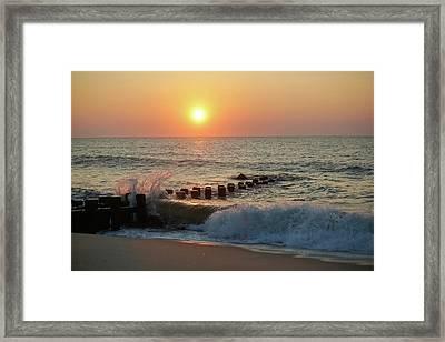 Bay Head Beach Sunrise 1 Framed Print