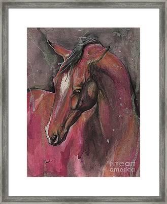 Bay Horse Portrait 2017 05 09 Framed Print