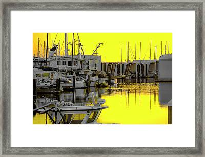 Bay In Yellow Framed Print