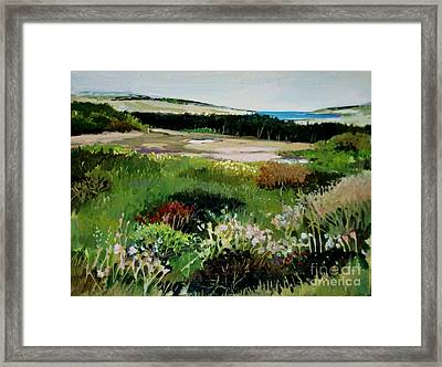Framed Print featuring the painting Bay Meadow by Diane Ursin