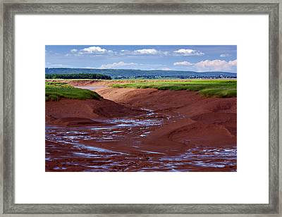 Bay Of Fundy - Nova Scotia - Low Tide Framed Print by Nikolyn McDonald