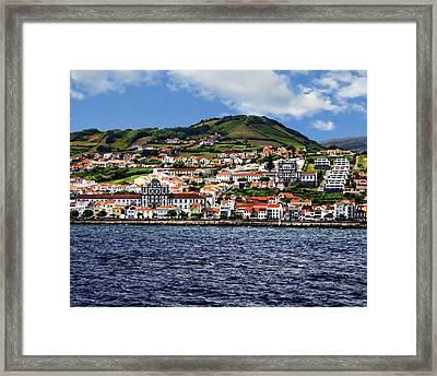 Bay Of Horta Framed Print by Anthony Dezenzio