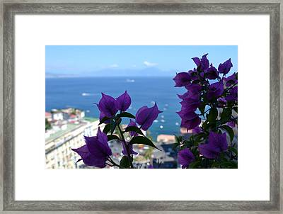 Bay Of Naples Framed Print