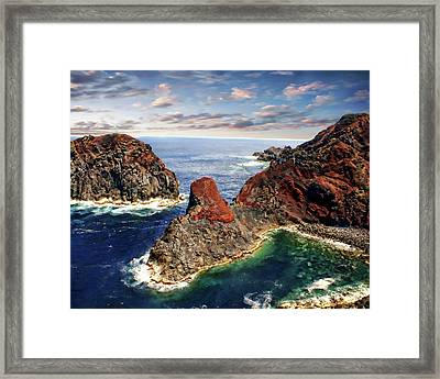Bay Of Ponta Da Barca Framed Print by Anthony Dezenzio