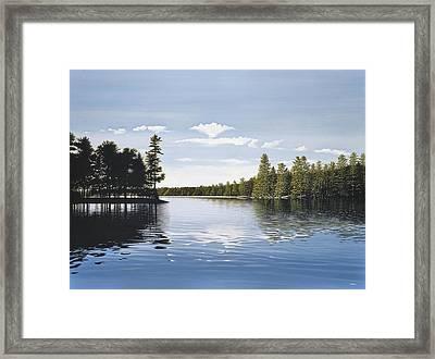 Bay On Lake Muskoka Framed Print by Kenneth M  Kirsch
