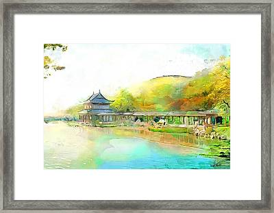 Bay Oriental Framed Print by Wayne Pascall