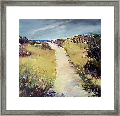 Framed Print featuring the painting Bay Path by Diane Ursin