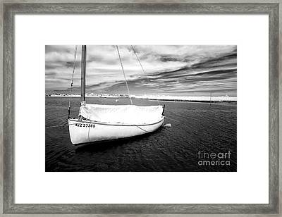 Bay Sailboat Framed Print
