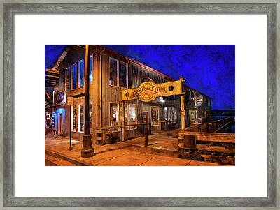Bay Street Pier Framed Print