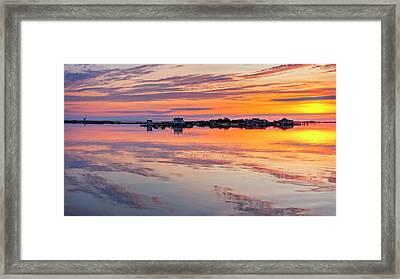 Bay Sunrise Framed Print by Mike Lang