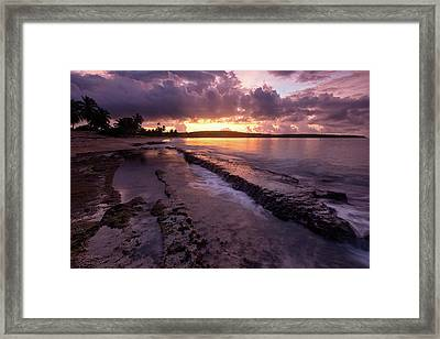 Framed Print featuring the photograph Bay Sunrise by Patrick Downey