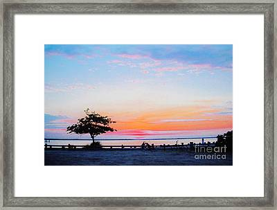 Framed Print featuring the photograph Bay Sunset by Susan Carella