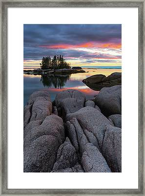 Framed Print featuring the photograph Bay View by Patrick Downey