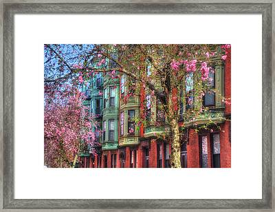 Bay Village Row Houses - Boston Framed Print by Joann Vitali