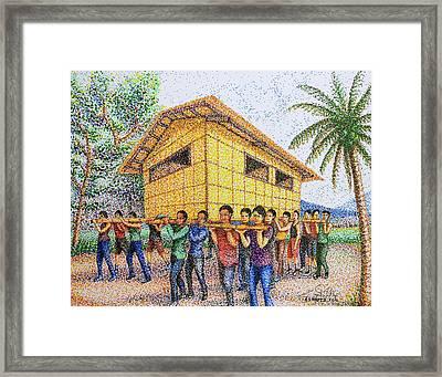 Bayanihan 2 Framed Print by Cyril Maza