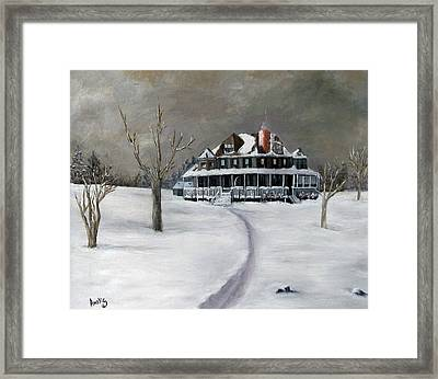 Bayberry Cottage Framed Print by Amelie Gates