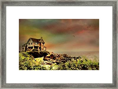 Bayberry Cove Cottage Framed Print