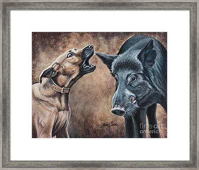 Baydog Framed Print by Monica Turner