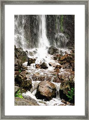 Framed Print featuring the photograph Bayfront Park Waterfall by Lars Lentz