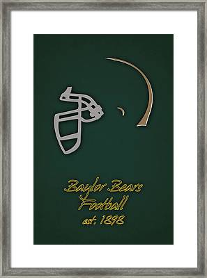 Baylor Bears Helmet 2 Framed Print by Joe Hamilton