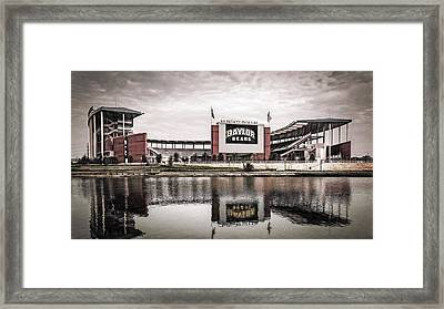 Football Stadium Sketch Framed Print