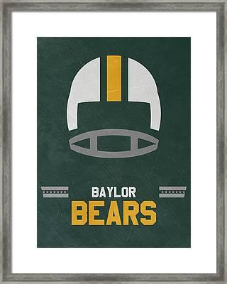 Baylor Bears Vintage Football Art Framed Print