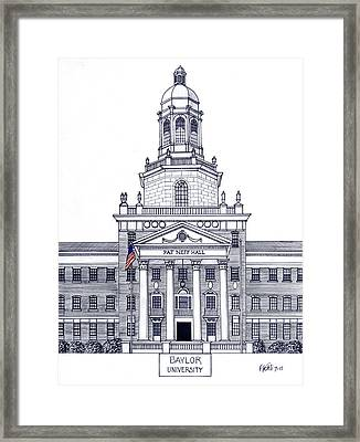 Baylor University Framed Print by Frederic Kohli