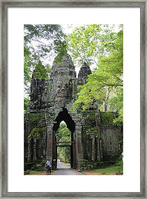 Bayon Gate Framed Print by Marion Galt