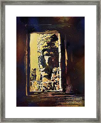 Framed Print featuring the painting Bayon IIi- Cambodian Ruins, Angkor Wat by Ryan Fox