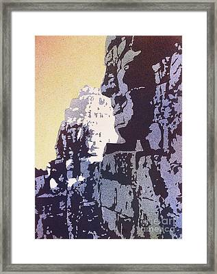 Bayon Temple- Angkor Wat, Cambodia Framed Print by Ryan Fox