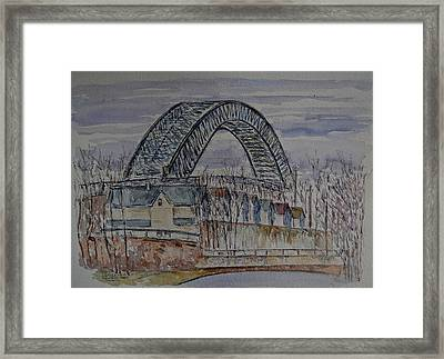 Bayonne Bridge Framed Print by Anthony Butera