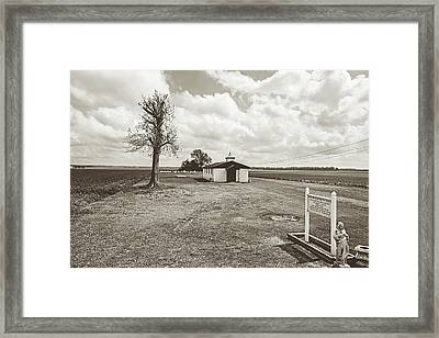 Bayou Country Church - Sepia Framed Print