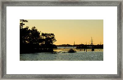 Bayou Sunset Venice Louisiana Framed Print