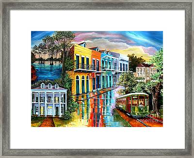 Bayou To The Big Easy Framed Print by Diane Millsap