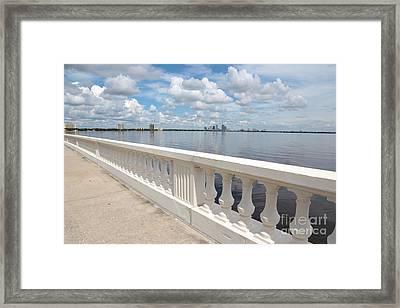 Bayshore Boulevard Balustrade Framed Print