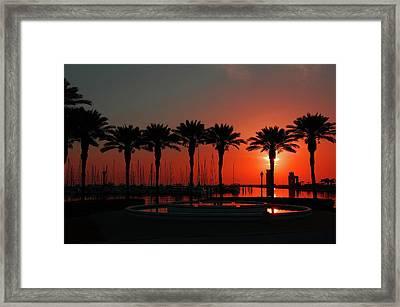 Bayshore Drive Harborwalk Framed Print