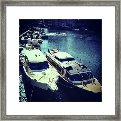 #bayside  #ベイエリア Framed Print by Bow Sanpo
