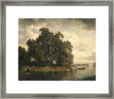 Bayside, New Rochelle, New York Framed Print by David Johnson