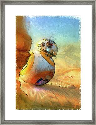 Bb-8 Spying Framed Print by Leonardo Digenio