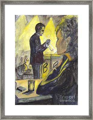 Bb Jazz Framed Print by Carol Wisniewski