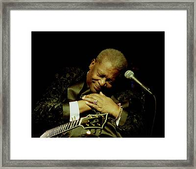 Bb King - Straight From The Heart Framed Print by Bob Guthridge
