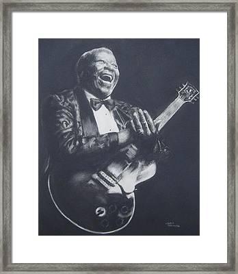 Bb King Framed Print by Cynthia Campbell